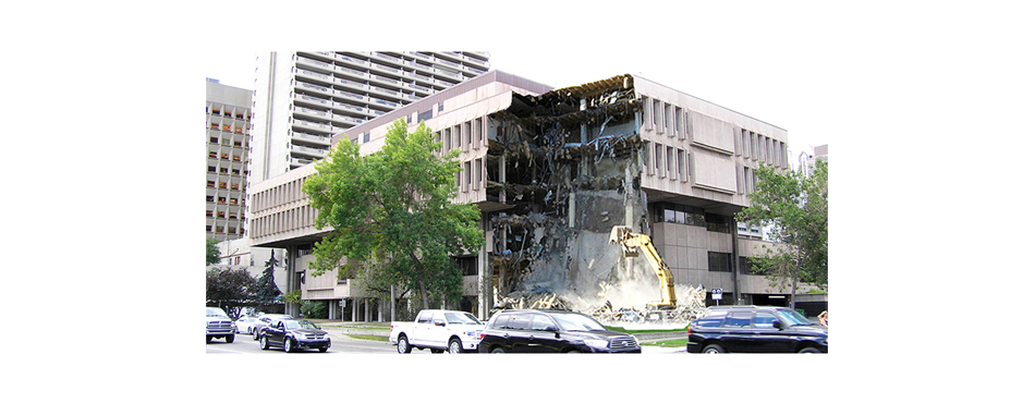 destruction of the building