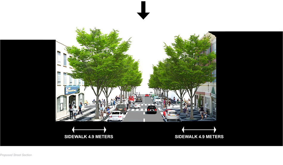 proposed street section